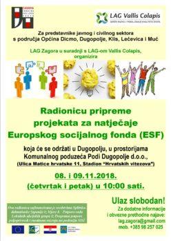 Plakat - ESF - Dugopolje